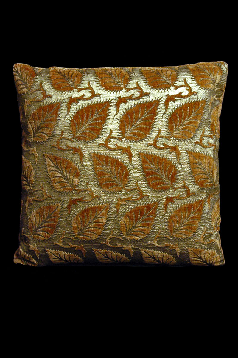 Venetia Studium Heliantus caramel printed velvet cushion