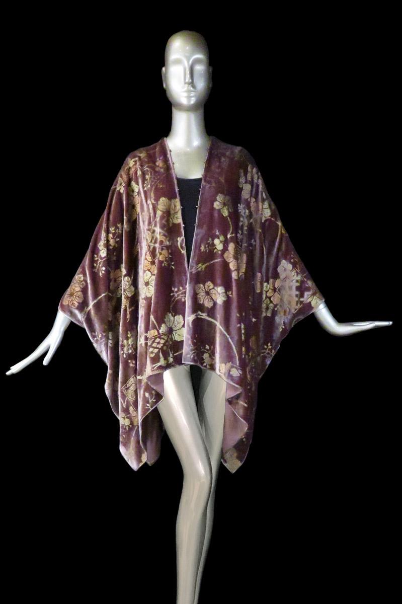 Fortuny printed velvet short evening coat
