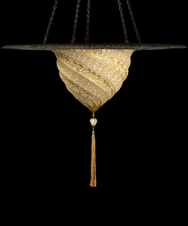 Glass Samarkanda with metal ring